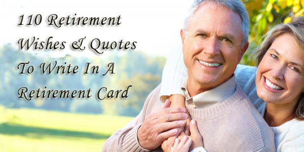 Things To Write In A Retirement Card